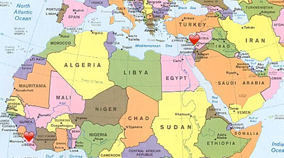 Middle East And Africa Map.Map Africa And Middle East Jackenjuul